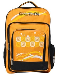 Game-In Orange And Black School Bag