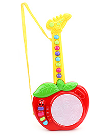 Smiles Creations Apple Guitar - Red & Yellow