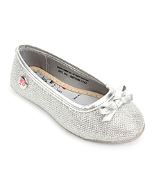 Barbie Ballerina Shoes Tie Bow Detail - Silver