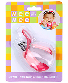 Mee Mee Nail Clipper With Magnifier - Pink