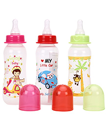 Mee Mee Premium Feeding Bottle Pack Of 3 Pink Red Green - 250 Ml