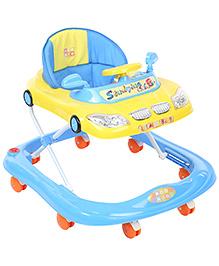 Mee Mee Musical Baby Walker Car Design Blue - MM-W 3019