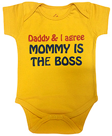 Acute Angle Mommy Is Boss Yellow Onesie
