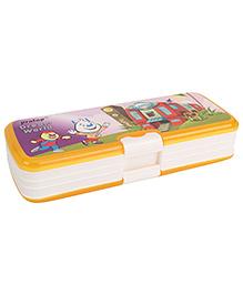 Pratap Top Rank Dream World Pencil Box - Yellow
