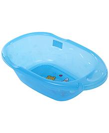 Baby Bath Tub Bear And Rabbit Print - Sky Blue