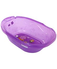 Baby Bath Tub Elephant And Rabbit Print - Purple