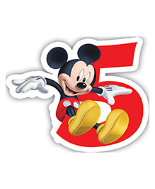 Mickey Mouse And Friends Birthday Numeral 5 Candle - 2.5 Inches