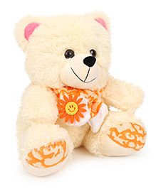 Funzoo Sunny Bear Soft Toy Light Cream - Height 11 Inches