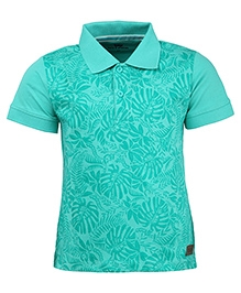 Bells and Whistles Printed Polo Collared T-Shirt - Green