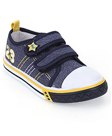 Cute Walk Casual Shoes Velcro Closure - Navy