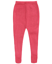 Babyhug Woolen Leggings - Dark Pink