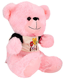 Funzoo Teddy Bear Soft Toy Balloon Print Pink - Height 12.8 Inches