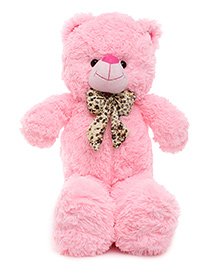 Funzoo Speedy Teddy Bear With Bow Pink - Height 22 Inches