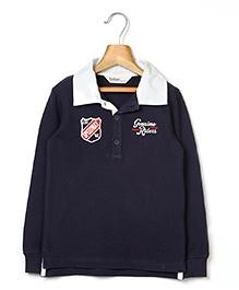 Beebay Full Sleeve Riders T-Shirt - Navy Blue