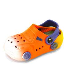 Frisky Shoes Clogs With Back Strap Car Design  - Orange