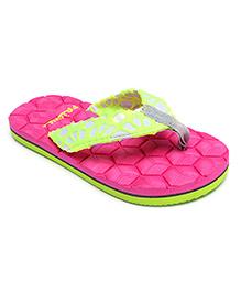 Frisky Shoes Flip Flops Geometric Design - Pink