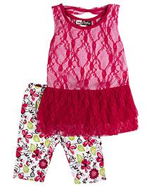 Baby Ziggles Sleeveless Tunic Top And Leggings - Pink