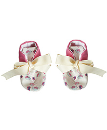 Bootie Patootie Bird High Top - Cream And Fuchsia