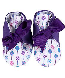 Bootie Patootie Loli High Top Booties - Purple