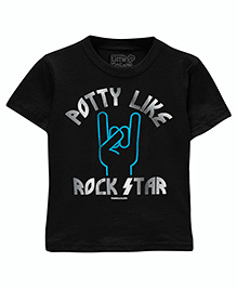 Toddler Tee Caption Print Rockstar - Vintage Smoke