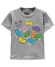 Toddler Tee Caption Print Oh You Jelly - Heather Grey