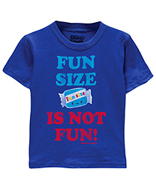 Toddler Tee Caption Print Fun Size Is Not Fun - Vintage Royal