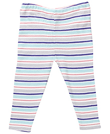 Under the Nile Leggings With Cat Stripes - Pink White And Blue