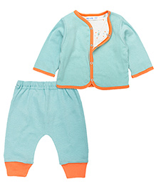 Under The Nile Reversible Cardigan And Pant Set - Sea Green