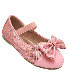 Yokids Slip-On Belly Shoes Bow Applique - Pink
