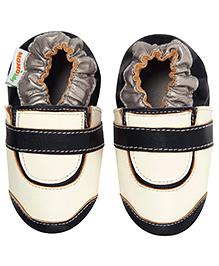 Momo Baby Golf Leather Crib Shoes - White