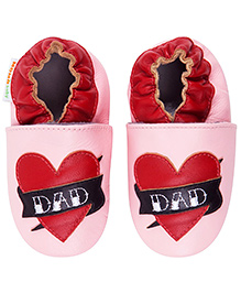 Momo Baby Daddy's Girl Leather Crib Shoes - Pink