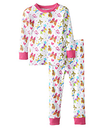 New Jammies Snuggly PJ Butterfly Magic Organic Cotton Night Suit - White