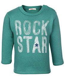Fox Baby Full Sleeves Sweatshirt Rock Star Print - Green