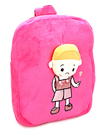 Dimpy Stuff Happy School Bag Pink - 12. 2 Inches