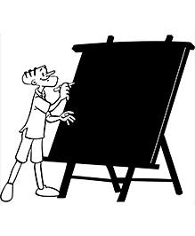 Chippak Suppandi Writes Chalkboard Decal Black - Medium