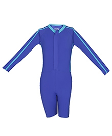 Imagica Full Sleeves Legged Swimsuit - Blue