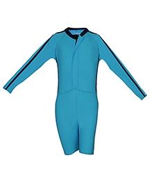 Imagica Full Sleeves Legged Swimsuit - Sky Blue