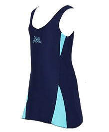 Imagica Sleeveless Frock Style Swimsuit - Blue