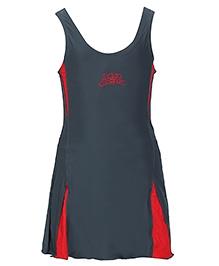 Imagica Sleeveless Frock Style Swimsuit - Grey