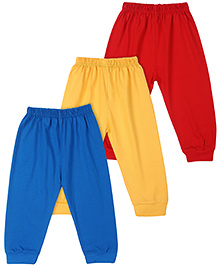 Little Full Length Leggings Set Of 3 - Yellow Blue Red