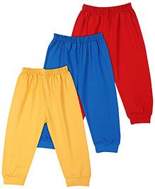 Little Full Length Leggings Set Of 3 - Yellow Blue Red