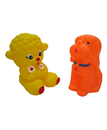 Baby Steps Squeeze Animal Set Of 2 - Multicolour