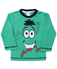 Babyhug Full Sleeves Cartoon Print T-Shirt - Green