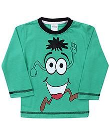 Babyhug Full Sleeves Cartoon Print T-Shirt - Green