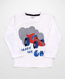 Babyhug Full Sleeves T-Shirt - White