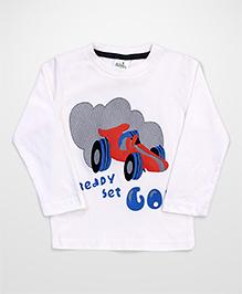 Babyhug Full Sleeves T-Shirt - Off White