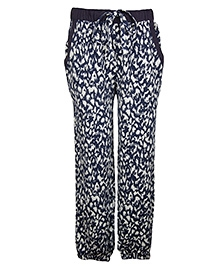 My Lil Berry Relaxed Fit Pants Abstract Print - Blue White