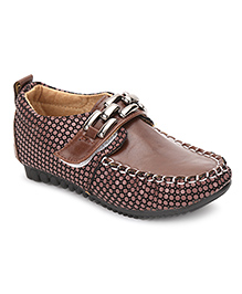 Cute Walk Velcro Closure Loafers - Coffee Brown