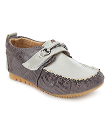 Cute Walk Velcro Closure Loafers - Grey