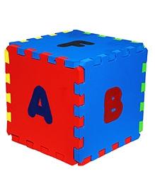 Cutez Cubes Interlocking Mat Cum Stool - Multicolour